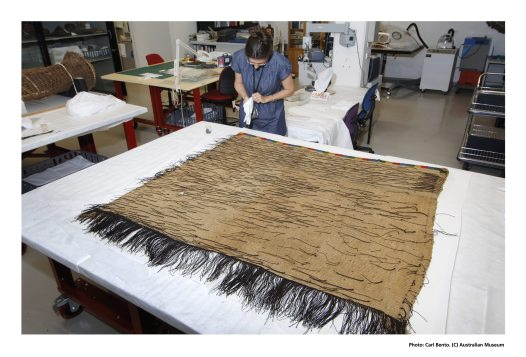 Conservation of a Maori cloak