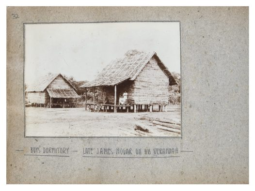 Boy's dormitory, Collingwood Bay, PNG