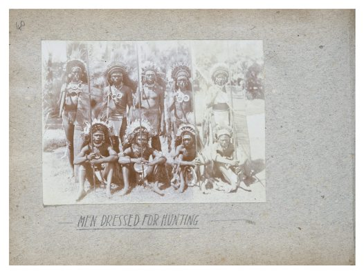 Men dressed for hunting, Collingwood Bay, PNG