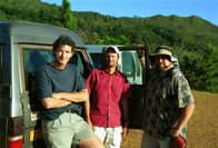 Ross Sadlier and colleagues in New Caledonia