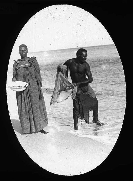 Bowd and Lyabel fishing, Mer (Murray Island), Torres Strait 1907