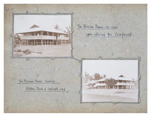 Two views of the Mission House, Collingwood Bay, PNG