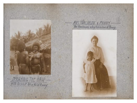 Mrs Tomlinson and family, and hair dressing, Oro Province, PNG