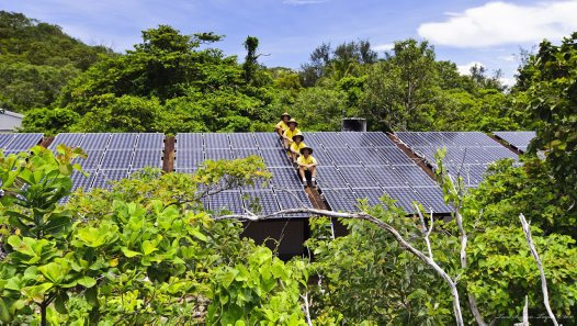 Lizard Island Research Station solar array
