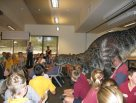 Dinosaur in the classroom
