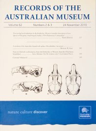 Cover of the Records of the Australian Museum