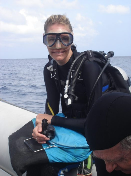 Lauren Hughes in scuba gear