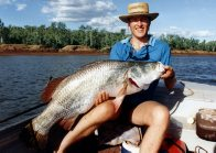 Gavin Parkinson with a 14 kg Barramundi