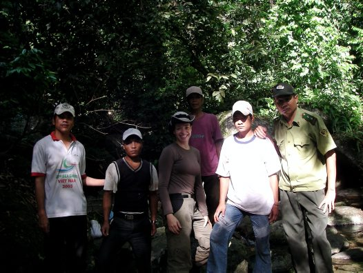 Jodi Rowley and amphibian survey team