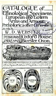 Webster sale catalogue, 1896
