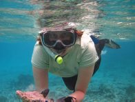 Rosemary Golding snorkelling