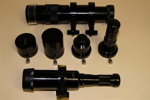 Long Distance Microscope tube & objectives