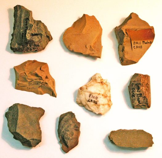 Lapstone Creek Rock Shelter: Selection of Stone Artefacts B