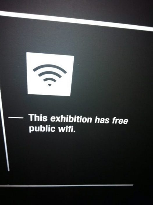 Love Lace Exhibition - Free WiFi