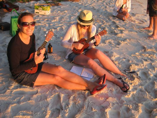 Ukeleles at Sunset