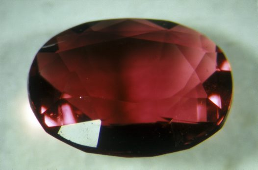 Faceted ruby, Barrington Tops, New South Wales