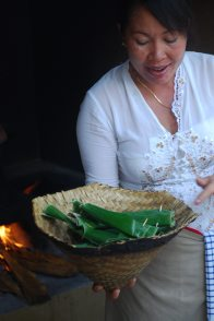 In Balinese Kitchen: Fish in Banana Leaves
