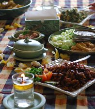 In Balinese Kitchen: Lunch on a Table