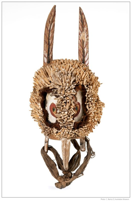 Owl head mask from Papua New Guinea
