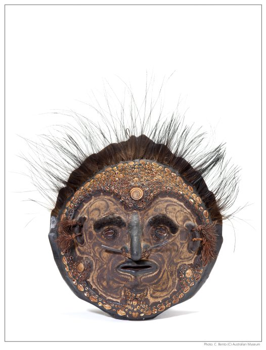 Over-modelled mask from Papua New Guinea
