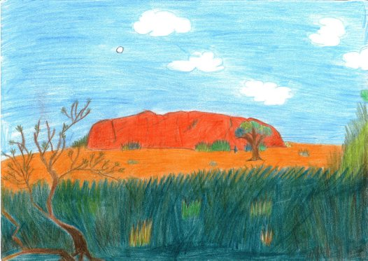 Uluru illustration