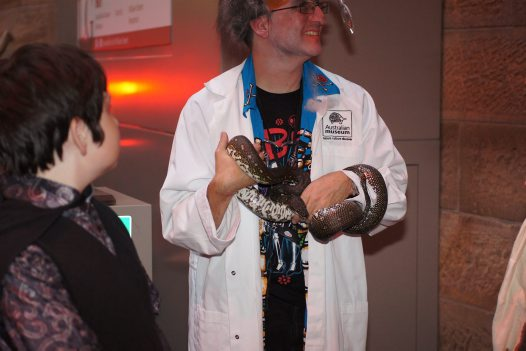 Haunted Museum Halloween Party snake