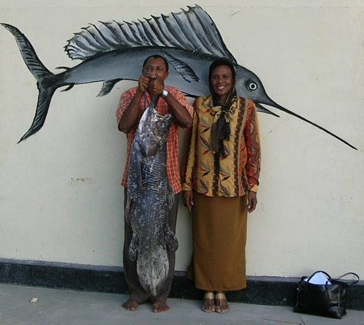 A Coelacanth caught at Zanzibar