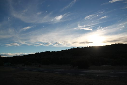Wave cloud formation over Mount Stromlo