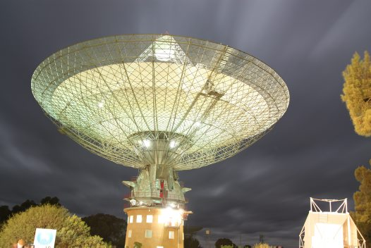 'The Dish' at Parkes in the evening