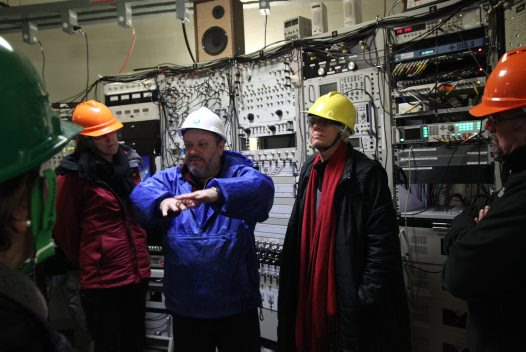 In the control room of the radio telescope in Parkes
