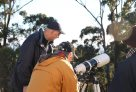 Members watching the Transit of Venus
