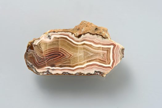 Polished agate half, Katherine, Northern Territory