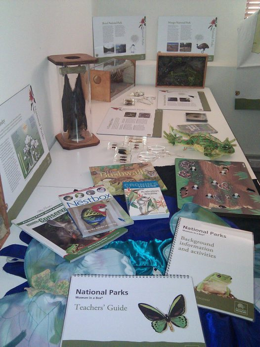 National Parks Museum in a box content