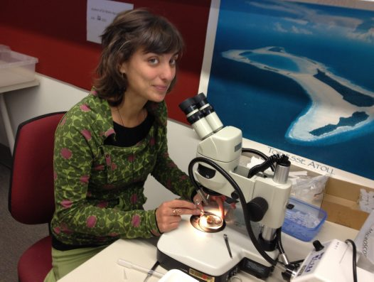 Visiting scientist Patricia Alvarez - Working