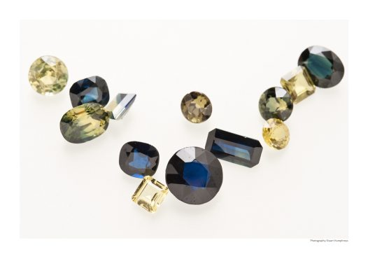 Faceted sapphires. Anakie area, Queensland
