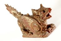 Carved Wooden Lion, Bali E44788
