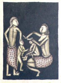 Ida Bagus Ketut Togog: Family Attending to a Child