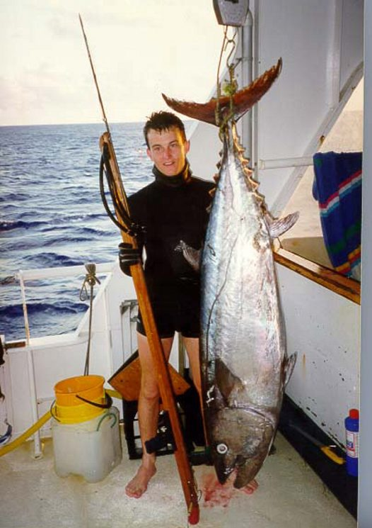 A Dogtooth Tuna speared by A. Boomer at Cato Reef