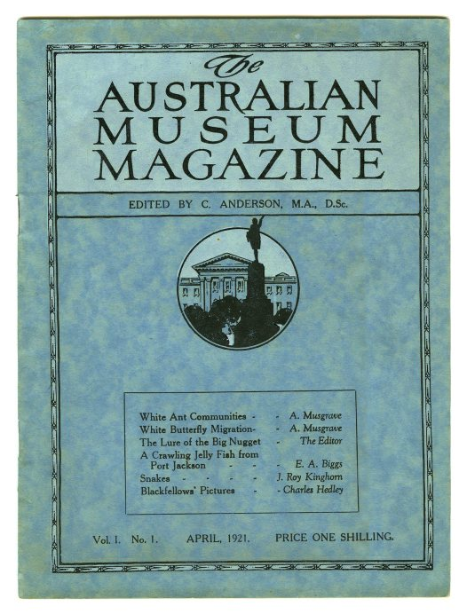 Front Cover of the Australian Museum Magazine 1921