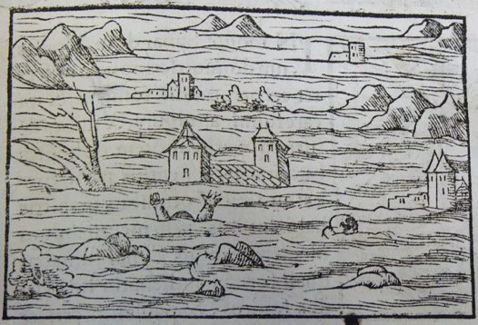 Flood from Lycosthenes' Portents (1557)