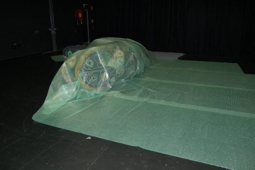 Ghost net art: Dauma and Garom wrapped for transport to Sydney #3