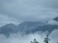 Mount Fansipan in cloud
