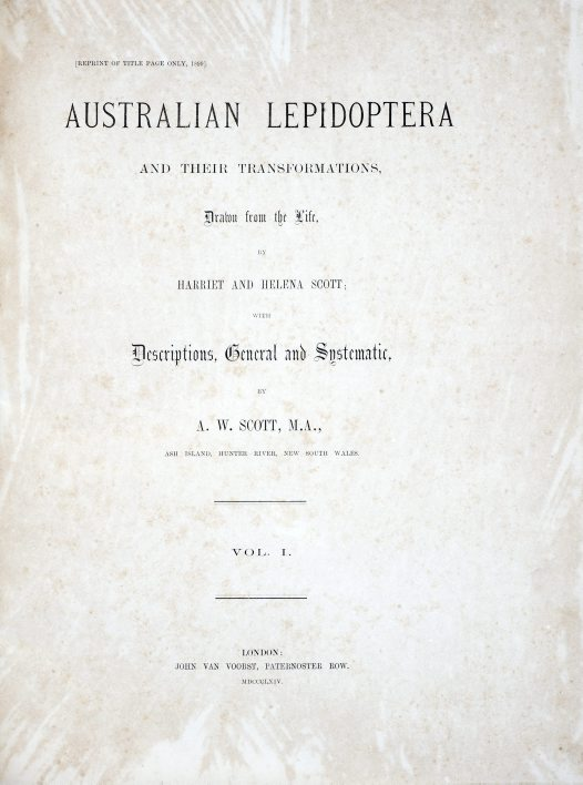 Australian Lepidoptera and their Transformations Volume 1, title page