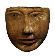 Face - Egyptian Coffin E17213