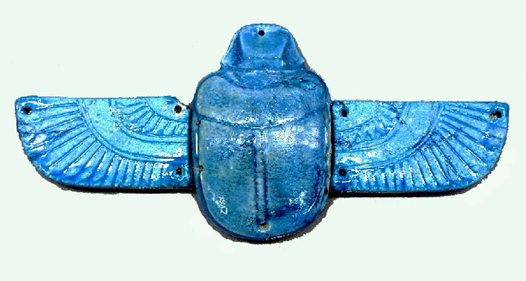 Egyptian Amulet E39786 on heart in chest