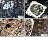 Photo micrographs of volcanic rocks