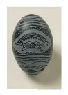 Carved emu egg E085855-001 - Badger Bates