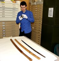 Mr Howitt with Japanese Sword: E76356 AA