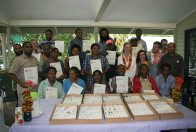 Successful participants in the entomology course, Binatang Research Centre