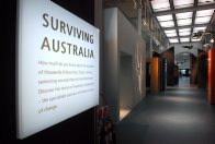 Surviving Australia exhibition entrance